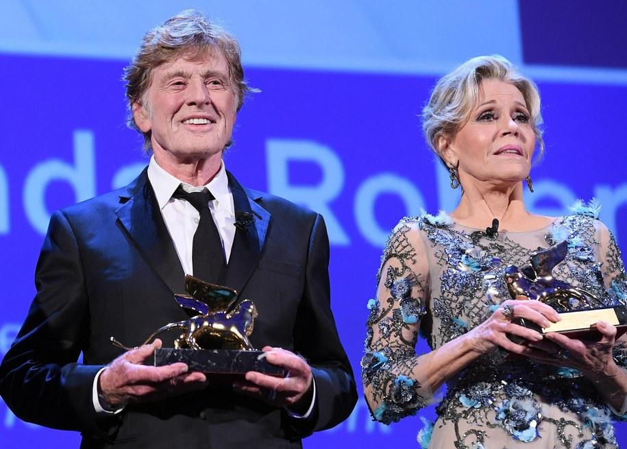 Robert Redford i Jane Fonda /CLAUDIO ONORATI    /PAP/EPA