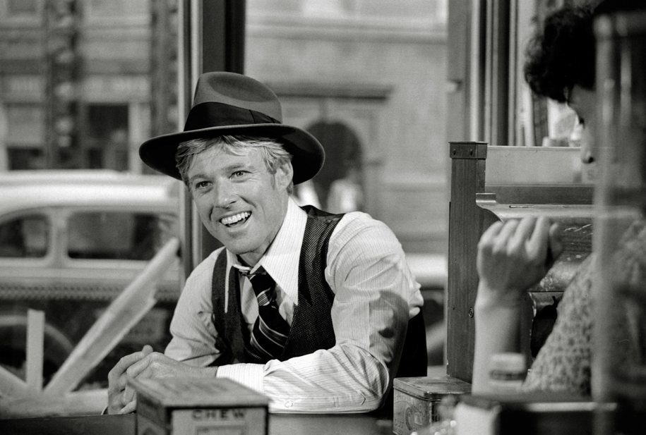 "Robert Redford na planie filmu ""Żądło"" /	Cinema Publishers Collection/The Hollywood Archive /PAP/Photoshot"