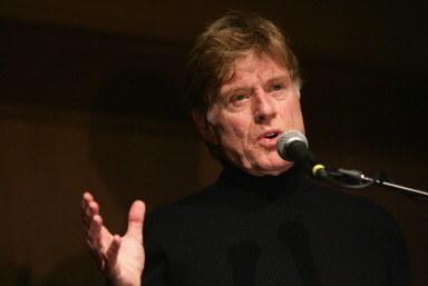 Robert redford, założyciel festiwalu w Sundance, podczas zeszłorocznej imprezy. /AFP