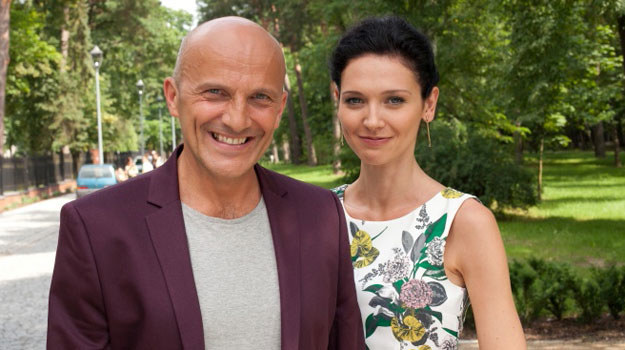 Robert Rozmus i jego serialowa córka, Andżelika Piechowiak /Agencja W. Impact