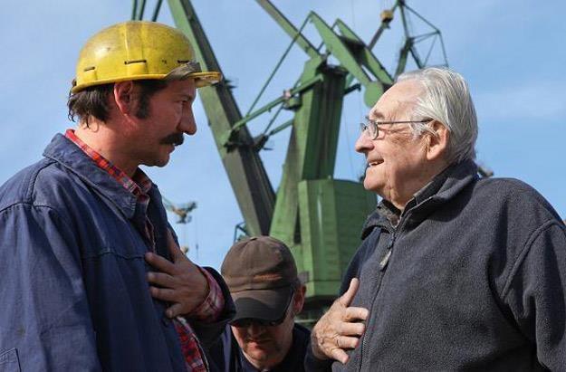 Robert Więckiewicz i Andrzej Wajda na planie filmu, fot. Marcin Makowsk /materiały dystrybutora