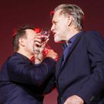 """Robert Więckiewicz i Bill Pullman na premierze """"Ukrytej gry"""". Wznieśli toast"""