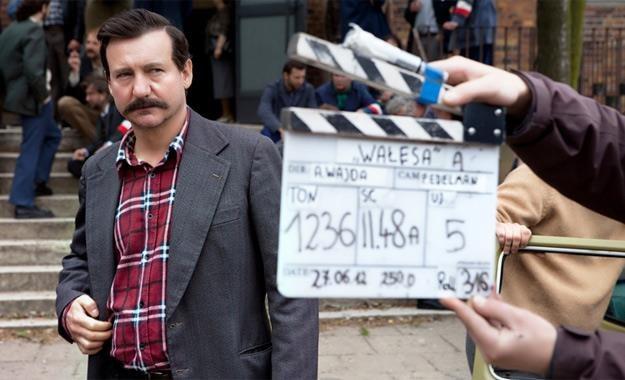 """Robert Więckiewicz na planie filmu """"Wałęsa. Człowiek z nadziei"""" /materiały dystrybutora"""