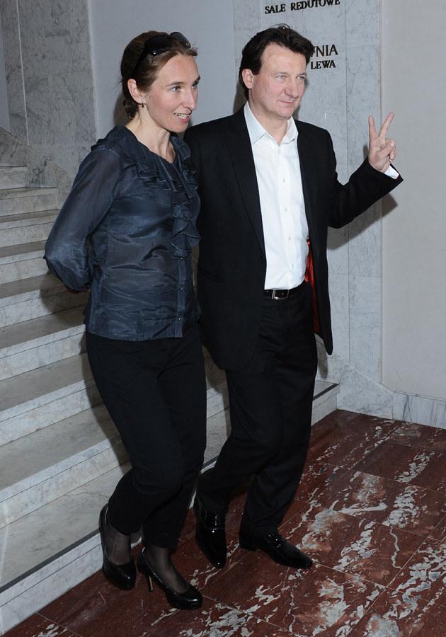Robert Więckiewicz z żoną Natalią /Andras Szilagyi /MWMedia