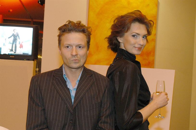 Robert Wolański i Agnieszka Maciąg, 2004 rok /Warda /AKPA