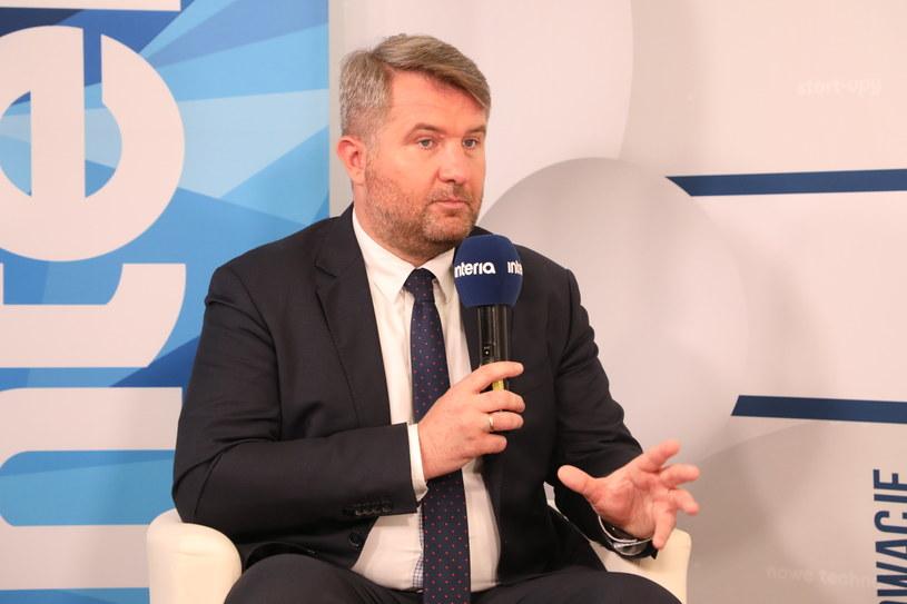 Robert Zapotoczny, prezes PFR Portalu PPK w studiu Interii /Ireneusz Rek /INTERIA.PL