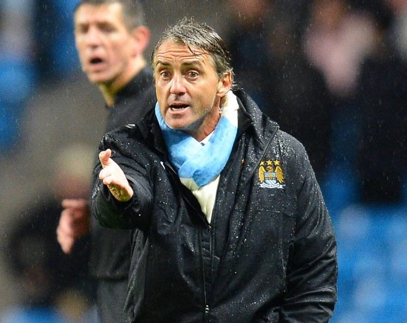 Roberto Mancini, trener Manchesteru City /AFP