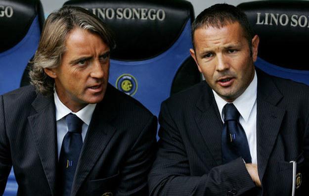 Roberto Mancini (z lewej) i Sinisza Mihajlović przed laty /AFP