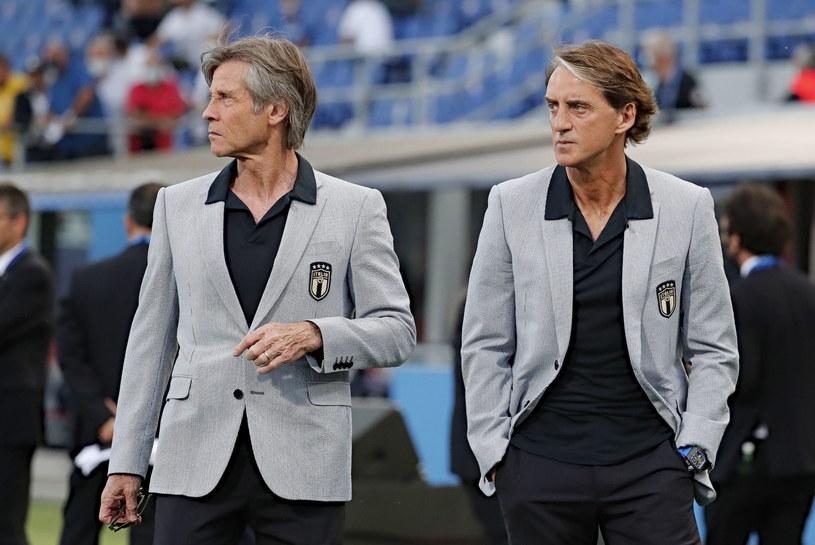 Roberto Mancini (z prawej) i Gabriele Oriali /PAP/EPA
