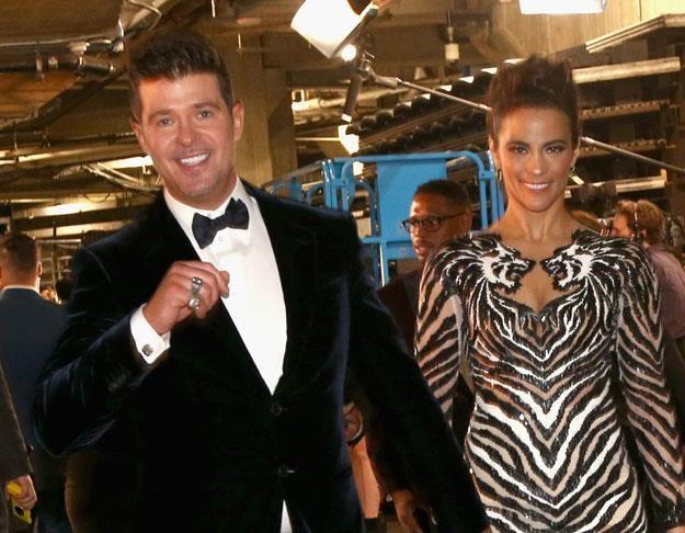Robin Thicke z żoną Paulą fot. Christopher Polk /Getty Images