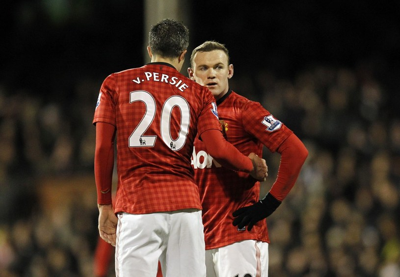 Robin van Persie i Wayne Rooney /AFP