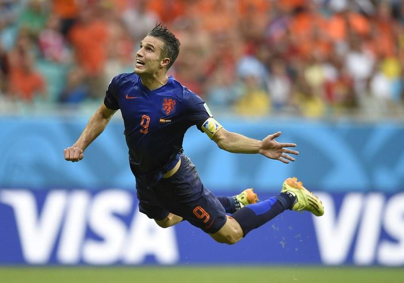 Robin van Persie w meczu z Hiszpanią zdobył efektownego gola /AFP