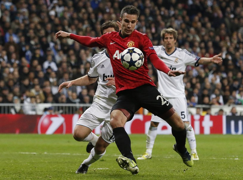 Robin van Persie w meczu z Realem Madryt /AFP