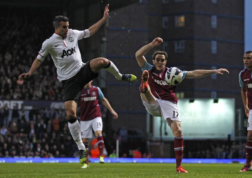 Robin van Persie w meczu z West Ham United /AFP