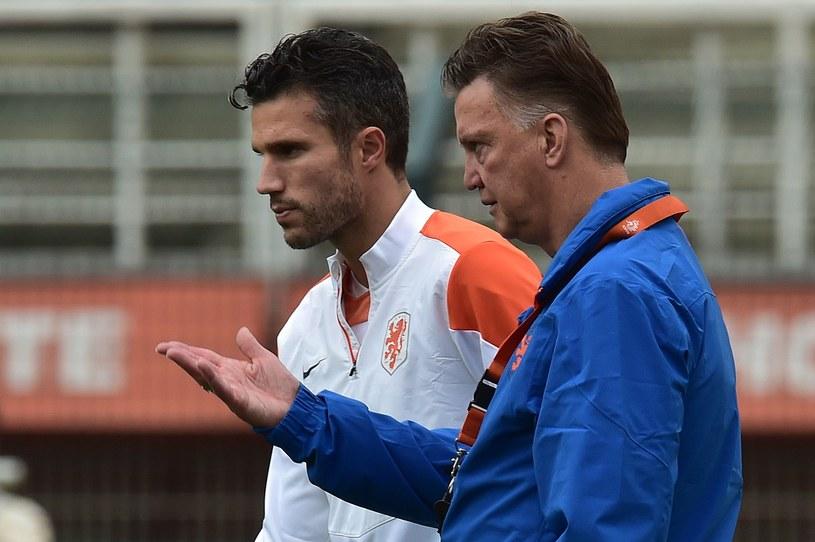 Robin van Persie z trenerem Louisem van Gaalem /AFP