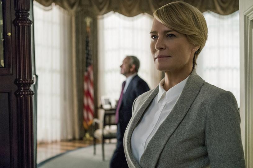 """Robin Wright jako Claire Underwood w 5. sezonie """"House of Cards"""" /David Giesbrecht/Netflix /materiały prasowe"""