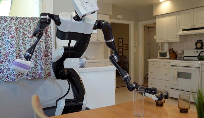Robot domowy radzi sobie w kuchni. Fot. Toyota Research Institute /materiały prasowe