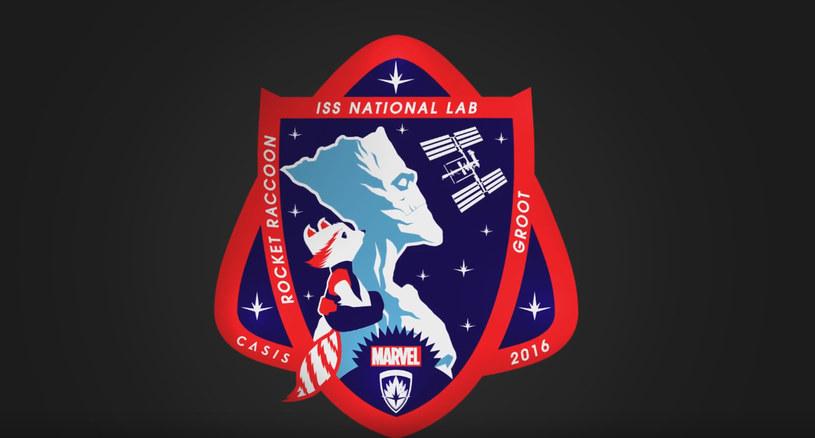 Rocket i Groot na emblematach misji CASIS /materiały prasowe