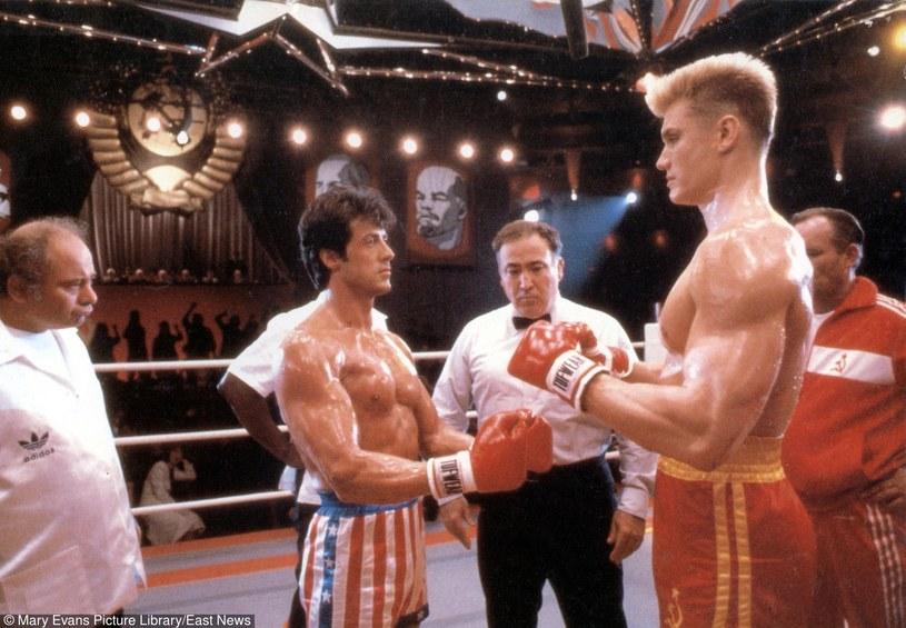 Rocky kontra Iwan Drago, czyli Sylwester Stallone na ringu z Dolphem Lundgrenem /Mary Evans Picture Library /East News