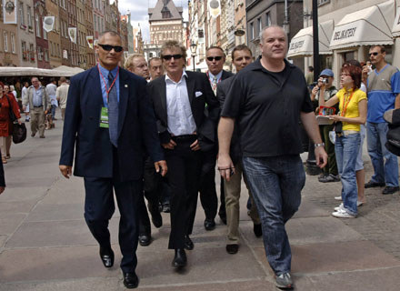 Rod Stewart na spacerze po Gdańsku /arch. AFP