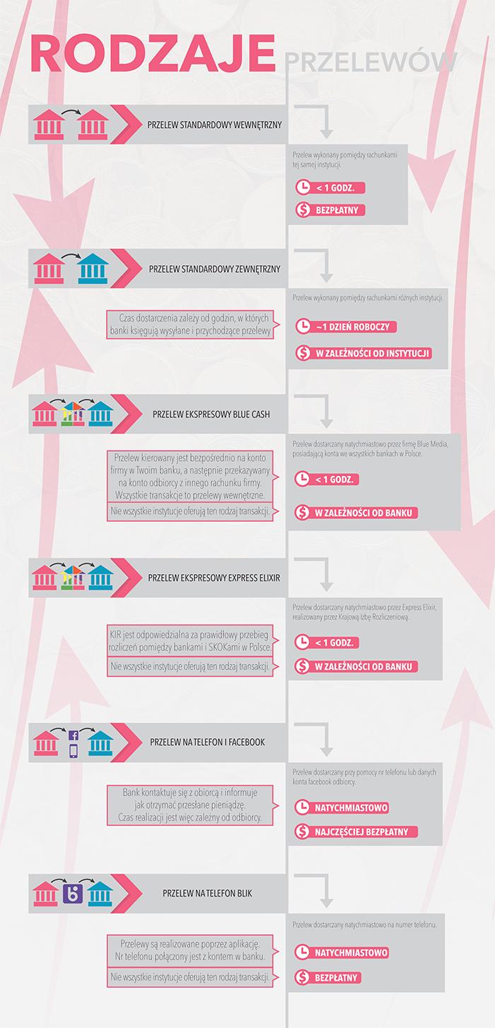 Rodzaje przelewów (infografika) /Barbara Kosakowska /INTERIA.PL