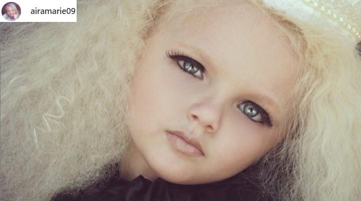 Rodzice Airy Marie Brown szybko zauważyli, że ich dziecko ma wszelkie predyspozycje do tego, by zrobić karierę w modelingu /@airamarie09 /Instagram