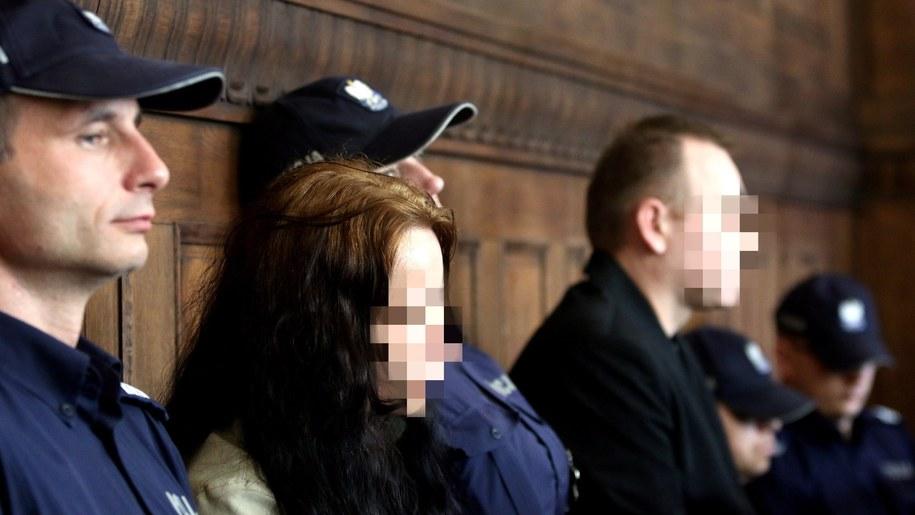 Rodzice Szymona z Będzina, Beata Ch. i Jarosław R., podczas rozprawy w Sądzie Okręgowym w Katowicach (4 maja 2016) /Marek Zimny /PAP