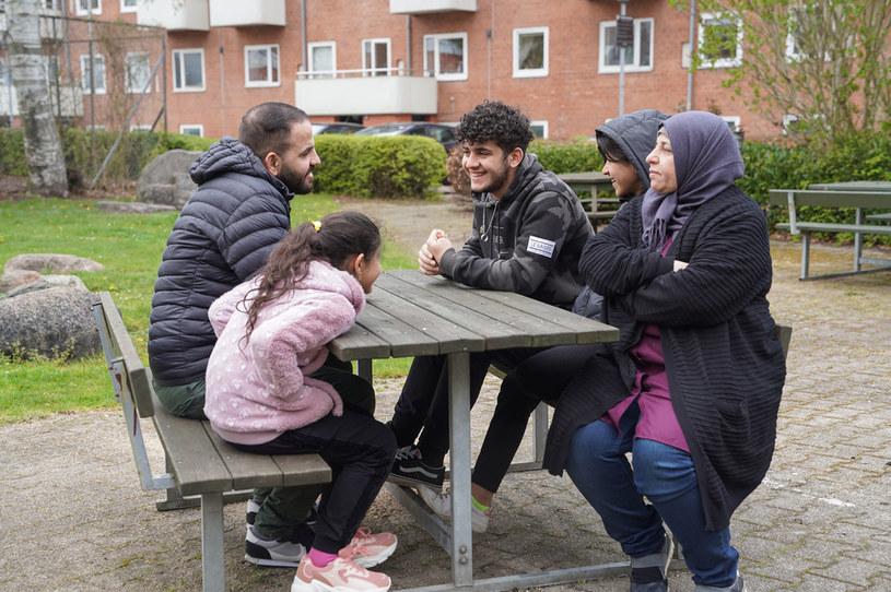 Rodzina al-Fayyad, która mieszka w Danii od 2015 r. W marcu matce i dwóm córkom nie przedłużono pozwolenia na pobyt /TOM LITTLE /AFP