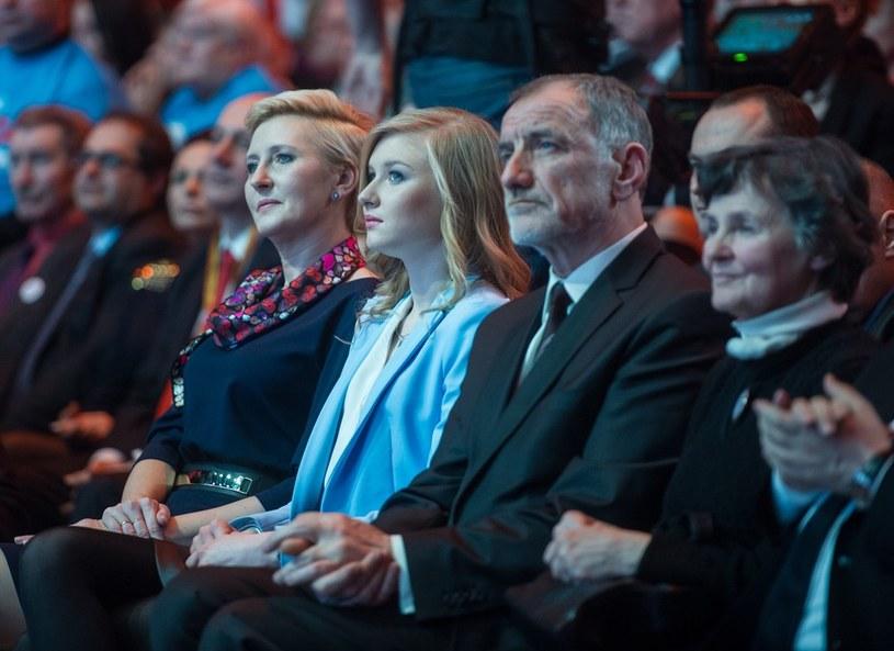 Rodzina Andrzeja Dudy - żona Agata, córka Kinga i rodzice Jan i Janina /Jacek Domiński /Reporter
