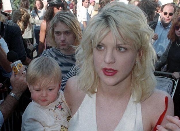 Rodzina Cobainów: Kurt, Courtney i mała Frances Bean fot. Reuters /Agencja FORUM