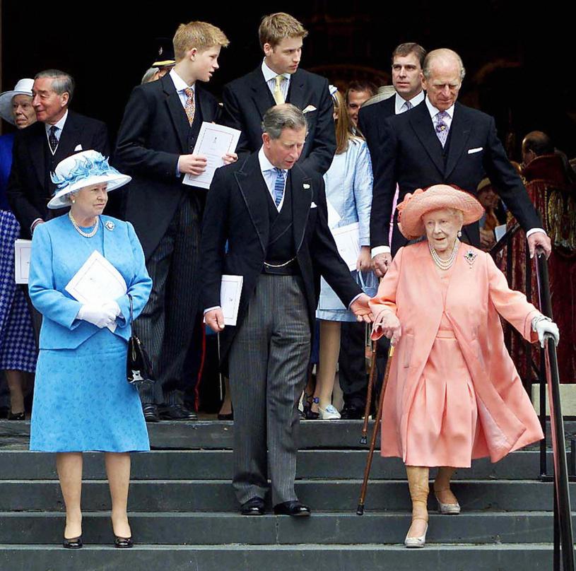 Rodzina królewska,a  wśród niej książę Andrzej /JONATHAN EVANS /East News