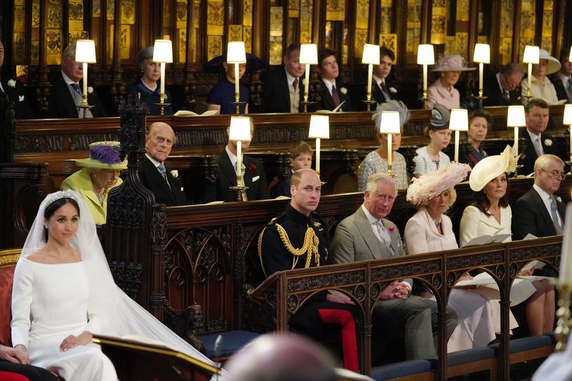Rodzina królewska na ślubie Harry'ego i Meghan /JONATHAN BRADY /East News