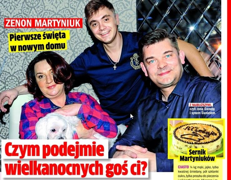 Rodzina Martyniuków w komplecie /Rewia