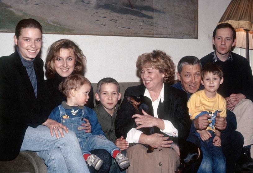 Rodzina Młynarskich, 1991 r. /Andrzej Wiernicki /Agencja FORUM
