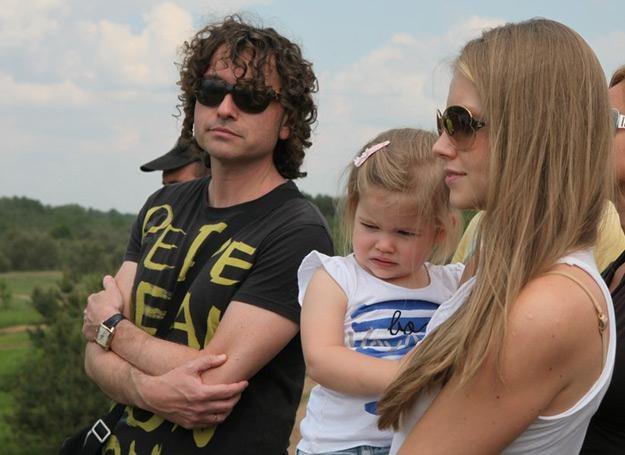 Rodzina Rubików w komplecie: Piotr, Helenka i Agata - fot. Tomasz Radzik /Agencja SE/East News