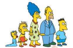 """Rodzina Simpsonów za czasów występów w """"Tracey Ullman Show"""". /Wikipedia.org /"""