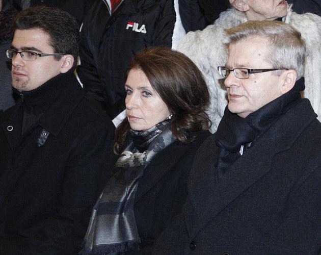 Rodzina Violetty Villas: wnuk Maciej, synowa Małgorzata, syn Krzysztof  /AKPA