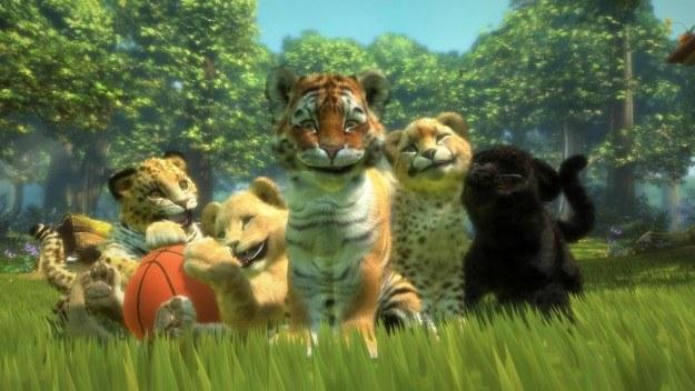 Rodzinka tygrysiątek w komplecie - czyż nie są urocze? /Informacja prasowa