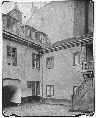 Rodzinny dom Noblów w Sztokholmie przy Norrlandsgatan 11 na zdjęciu z 1903 roku /Foto. Public Domain /