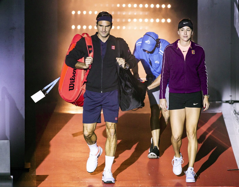 Roger Federer i Belinda Bencic /AFP