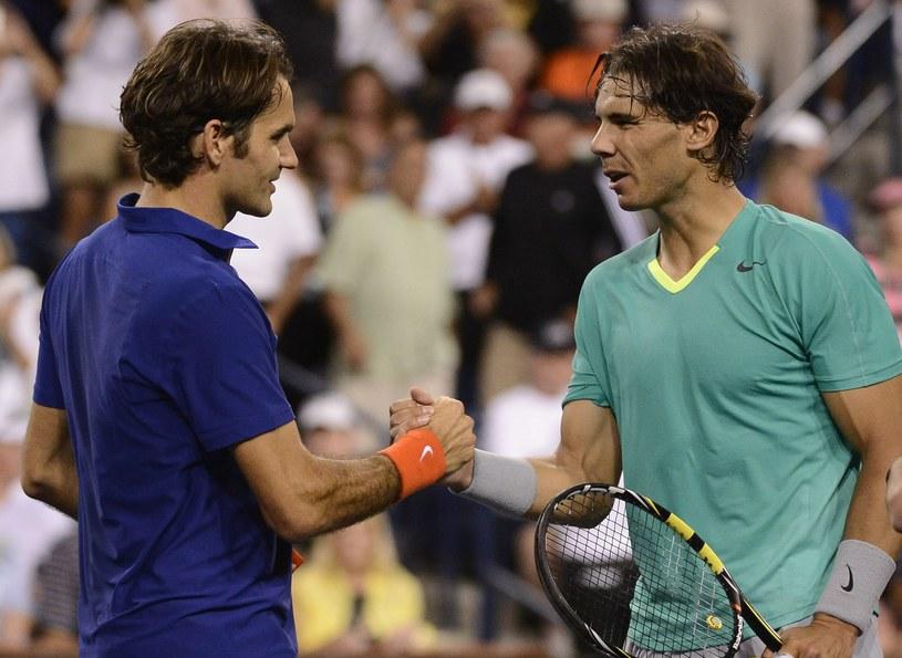 Roger Federer i Rafael Nadal /PAP/EPA