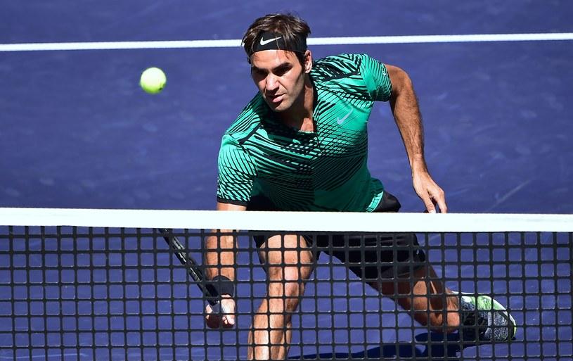 Roger Federer na kortach w Kalifornii /AFP
