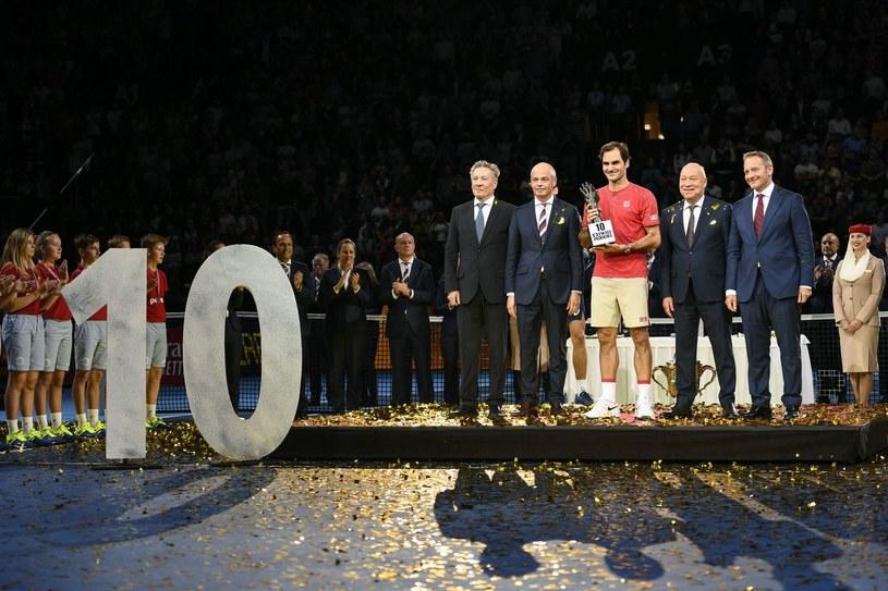 Roger Federer wygrał turniej w Bazylei już 10 razy /AFP