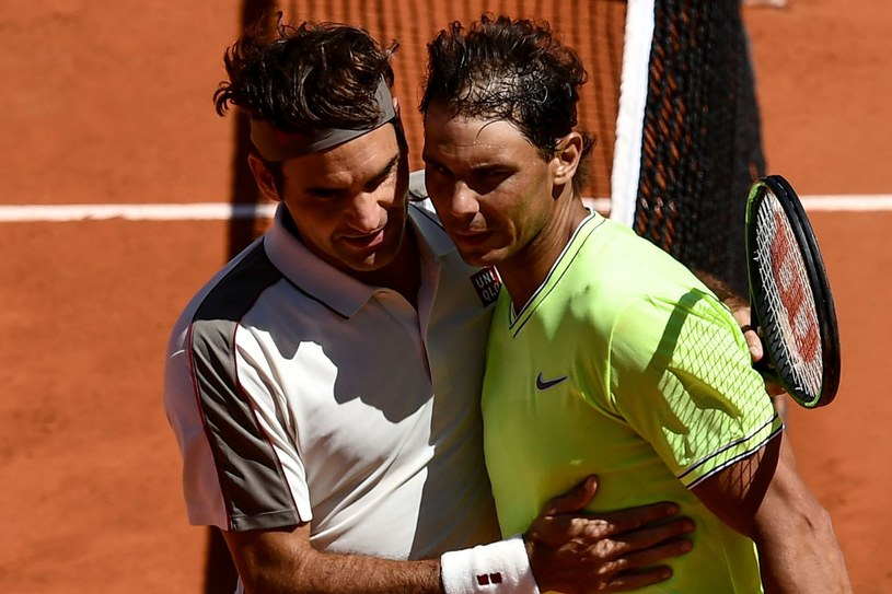 Roger Federer (z lewej) i Rafael Nadal /AFP