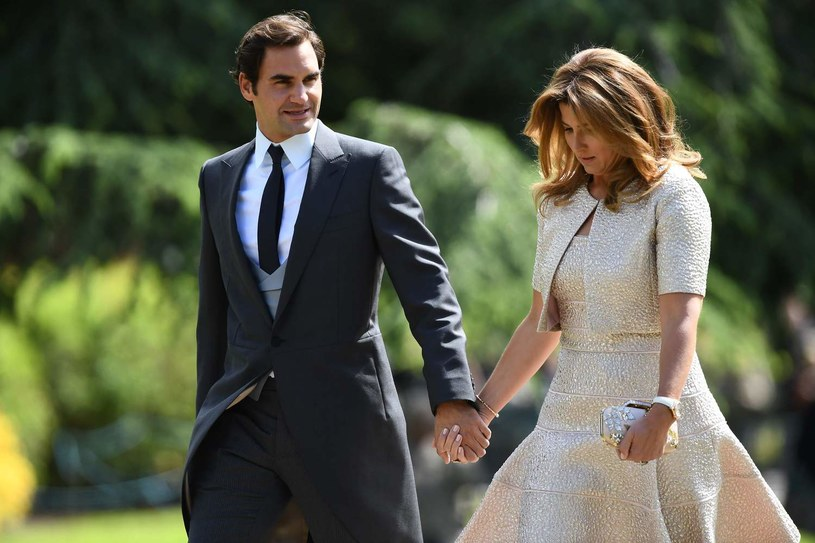 Roger Federer z żoną Mirką /AFP