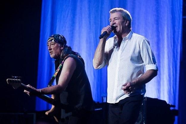 Roger Glover i Ian Gillan z Deep Purple podczas występu w Katowicach /Bartosz Nowicki / www.bartosznowicki.pl