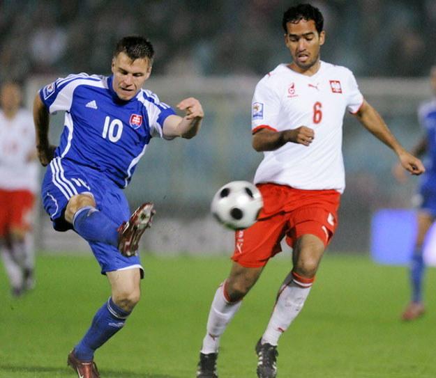 Roger Guerreiro w barwach reprezentacji Polski /AFP
