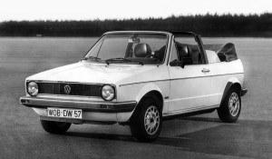 """Rok 1979 - premiera Golfa I Cabriolet. Otwarta odmiana """"jedynki"""" powstawała w zakładach Karmanna. Była produkowana rekordowo długo – do 1993 roku. /Volkswagen"""