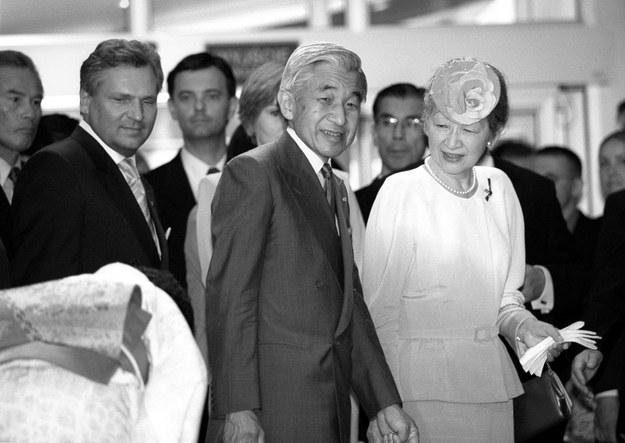 Rok 2002 - wizyta cesarza Akihoto i jego małżonki w centrum Manggha /Mariusz Makowski /Agencja FORUM