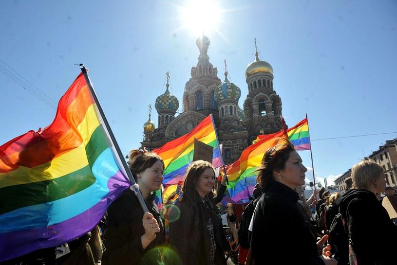 Rok 2013 - protesty grup LGBT w Sankt Petersburgu /East News
